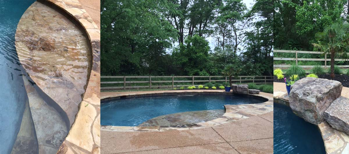 Gunite pool design landscaping and pool construction for Pool design layout